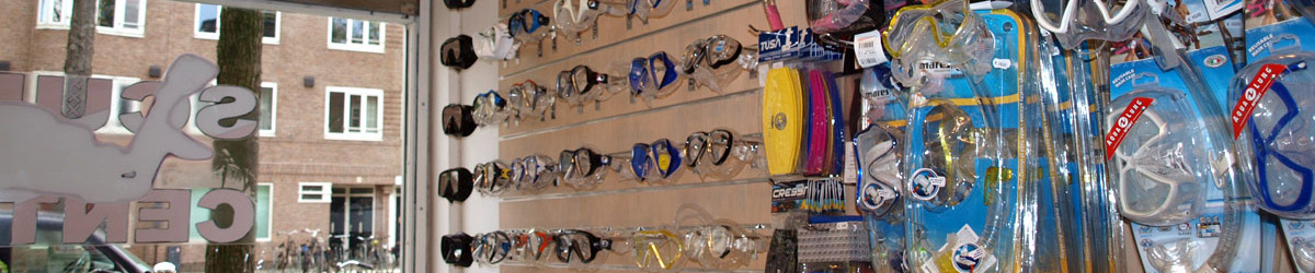 Scuba Center Amsterdam, een breed assortiment